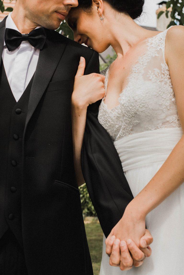 Portrait d'un couple de mariés
