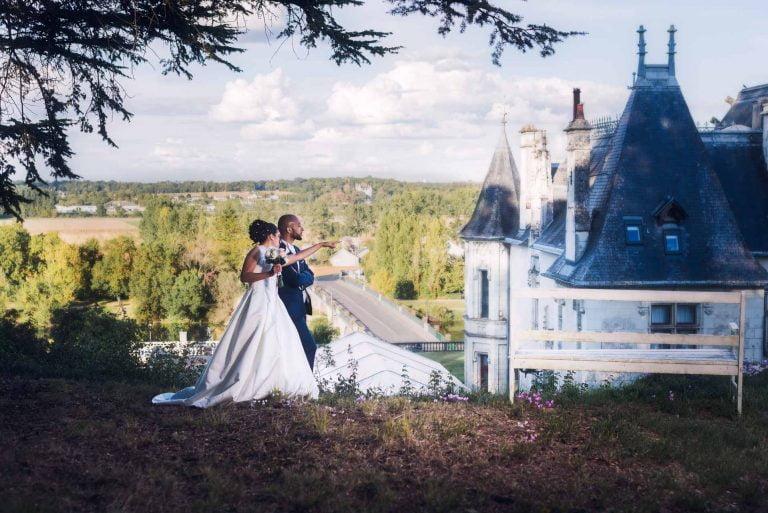 Photo de mariage au château de Veretz