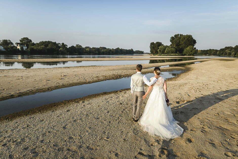 Photographe mariage bord de loire Candes Saint Martin