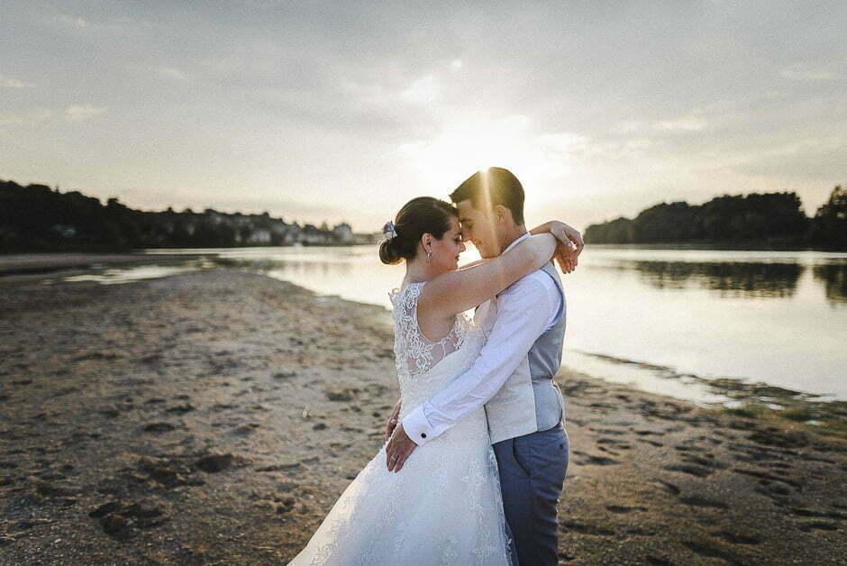 Photographe mariage 37 plage de Candes Saint Martin