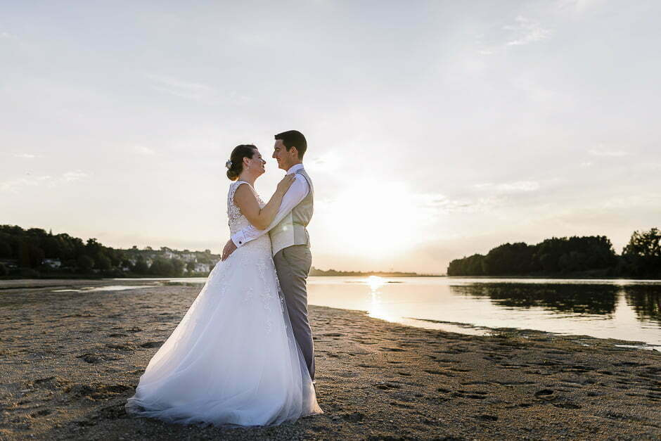 Photographe de mariage en Indre-et-Loire Candes Saint-Martin couché de soleil