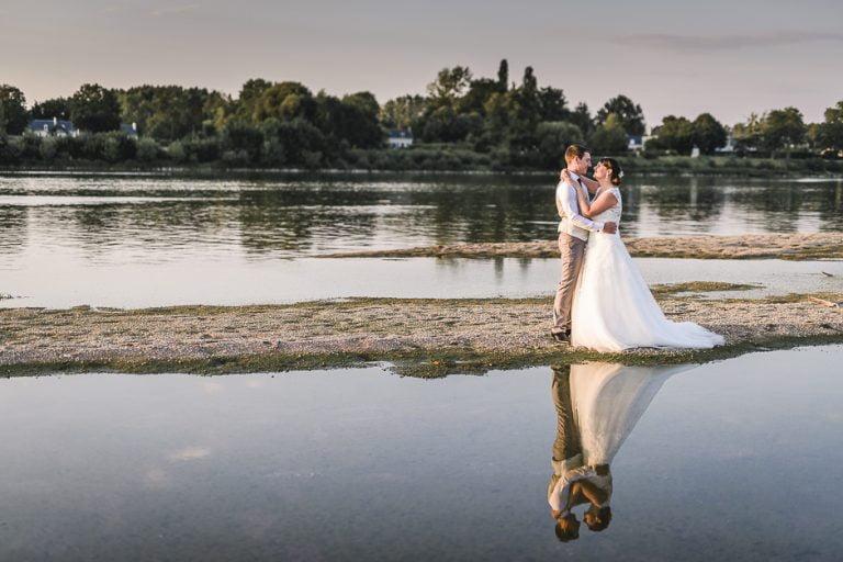 Photographe de mariage en Indre-et-Loire plage de Candes Saint Martin
