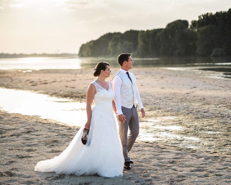 Photographe de mariage plage de Candes Saint Martin