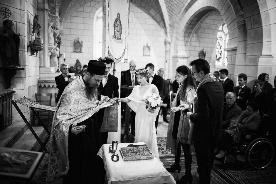 Photographe mariage Tours Domaine de la Bergerie église