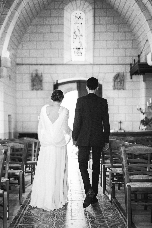 Photographe mariage Tours Domaine de la Bergerie eglise