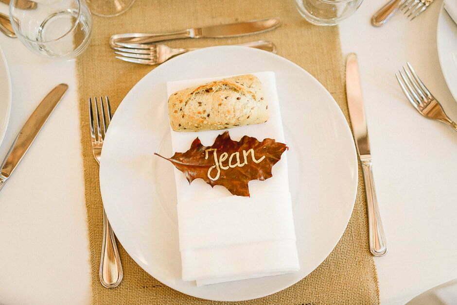 Décoration table tours photographe mariage