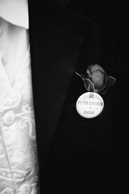 Photographe badge pour un mariage