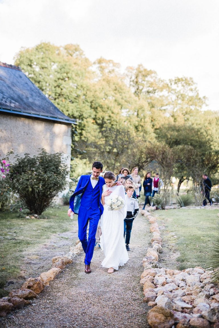 Couple de marié au domaine de la Bergerie