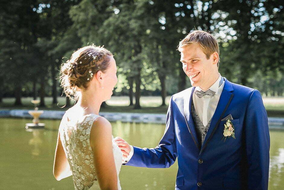 Photographe : des mariés au parc de richelieu