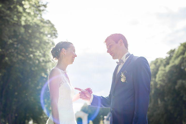 Photographe de mariage en Indre-et-Loire Mariés au parc de richelieu