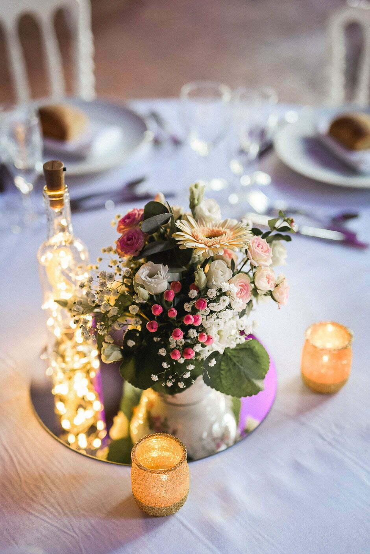 Décoration de table pour un mariage