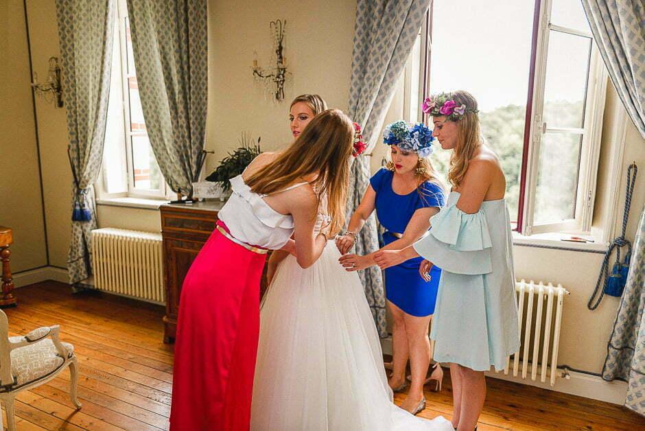 Préparatifs de la mariée au Château de Brou