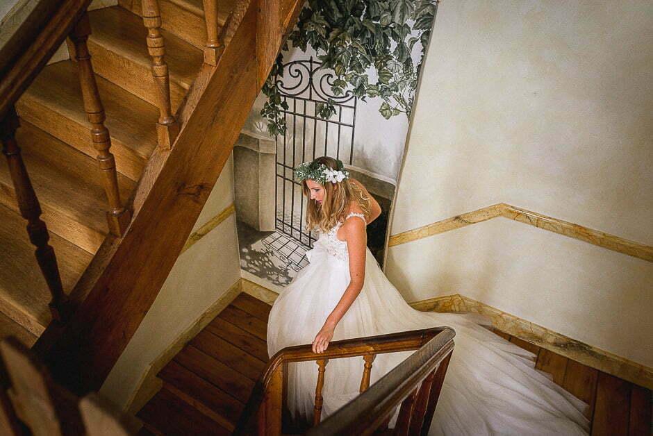 Préparatifs avec la marié au château de Brou
