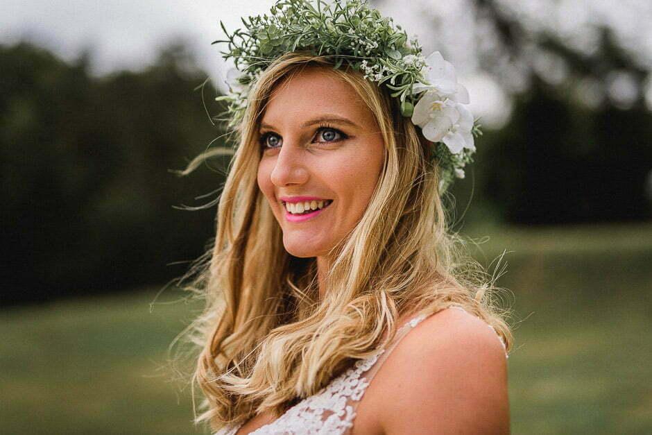 Photographe de mariage château de Brou avec la mariée