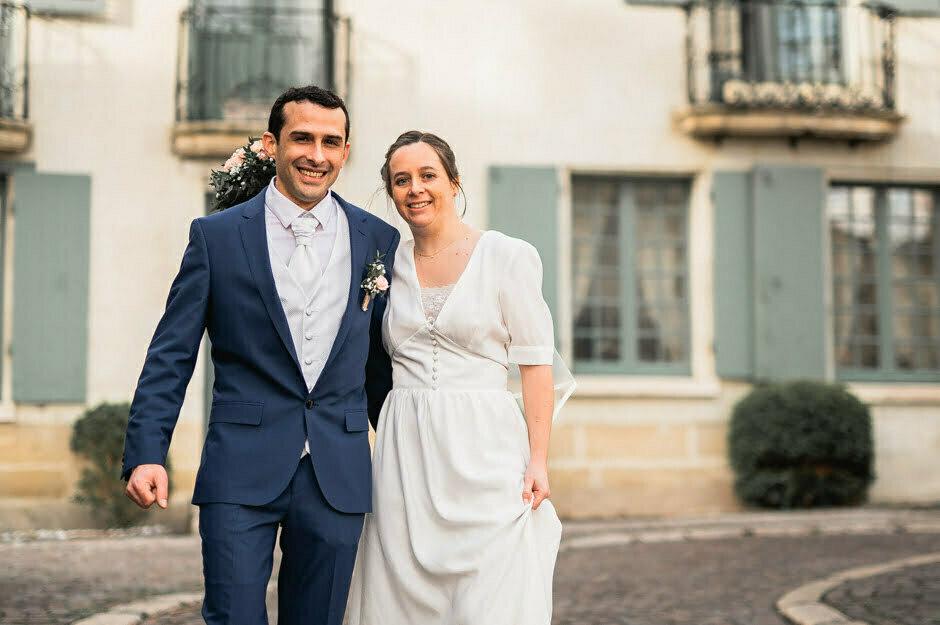 mariage séance photos de couple à Chinon