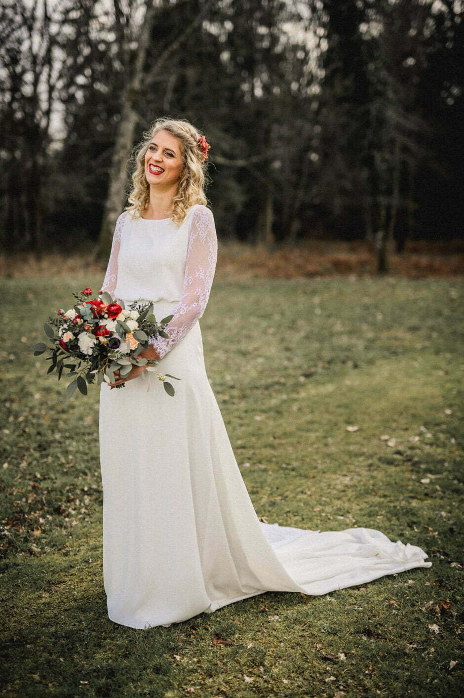 la mariée seule en photo