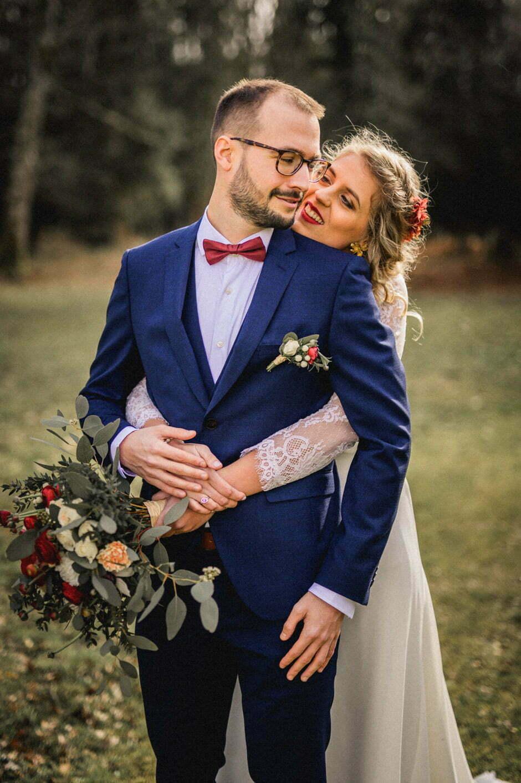 couple de mariés à la trigalière