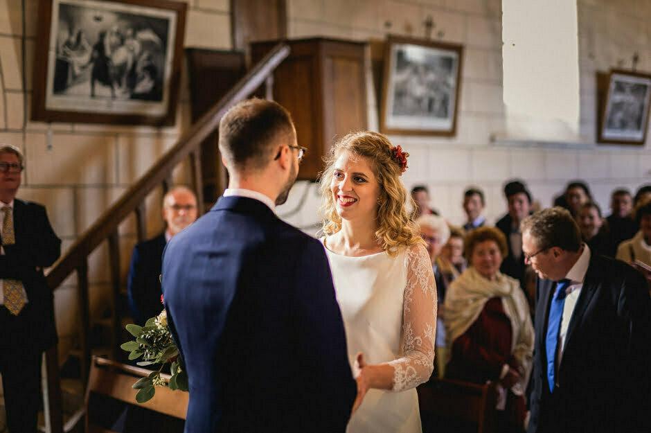 mariage à l'église d'Ambillou