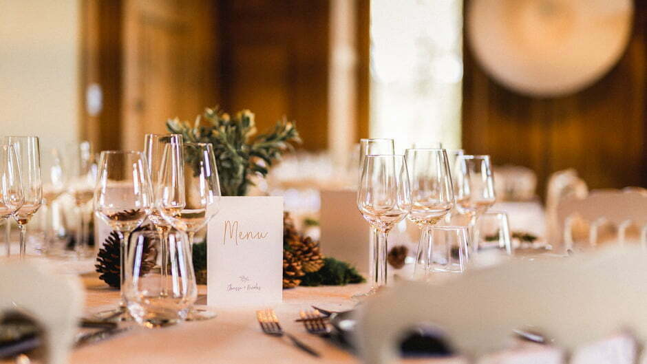 décoration de la table à un mariage
