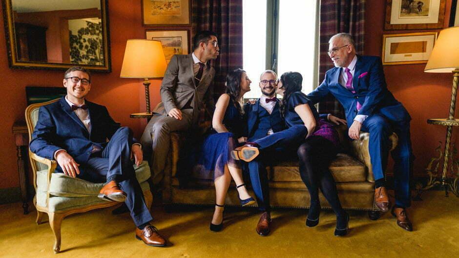 le marié au salon à la Trigalière